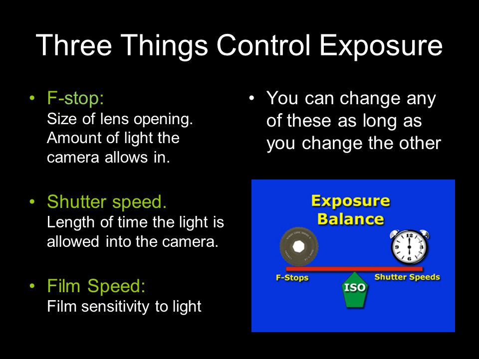Three Things Control Exposure