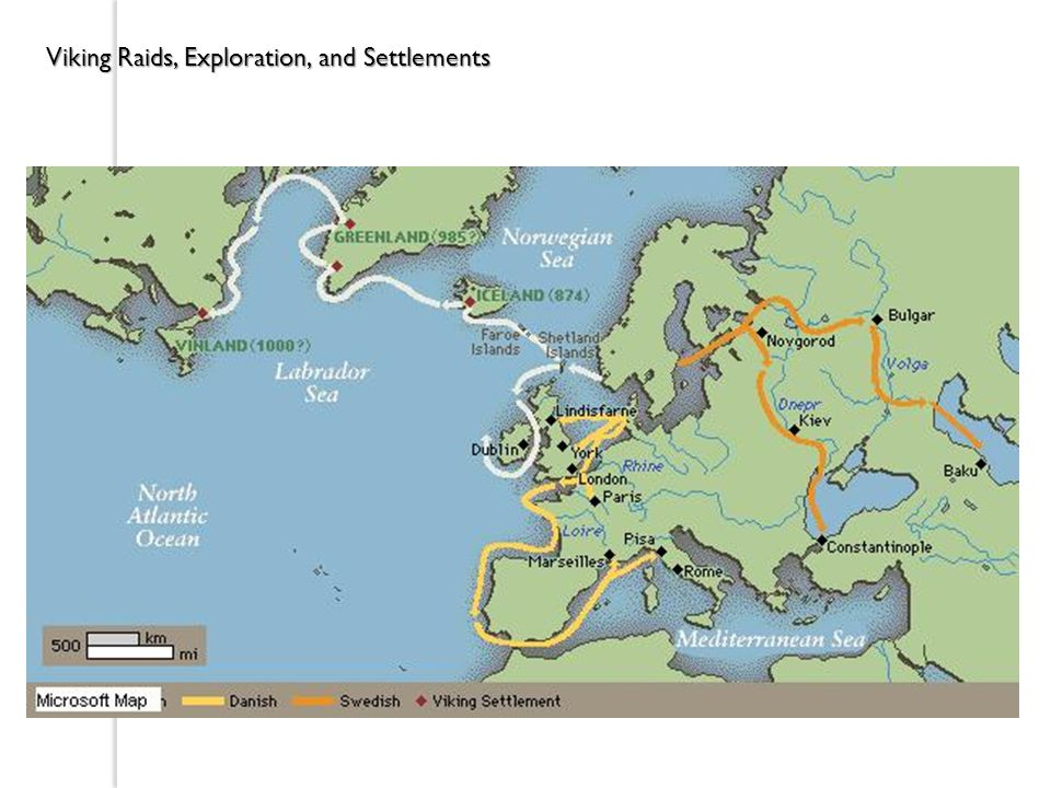 Viking Raids, Exploration, and Settlements