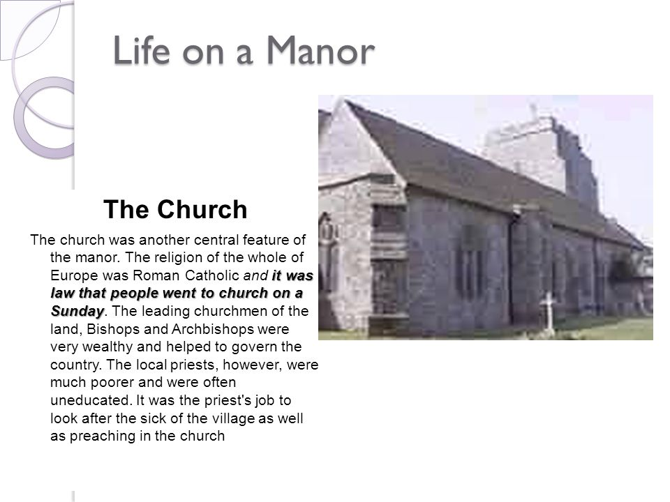 Life on a Manor The Church
