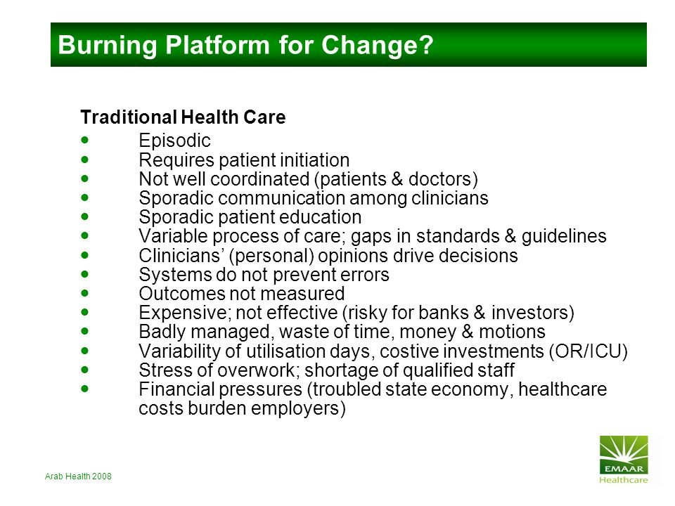 Burning Platform for Change