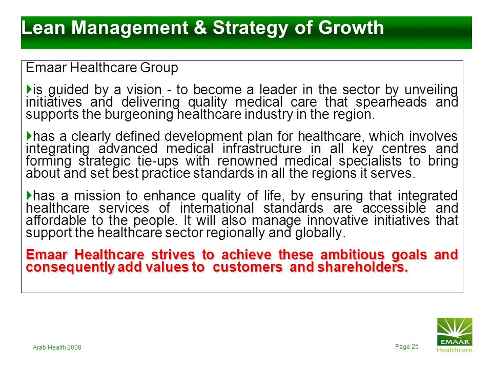 Lean Management & Strategy of Growth