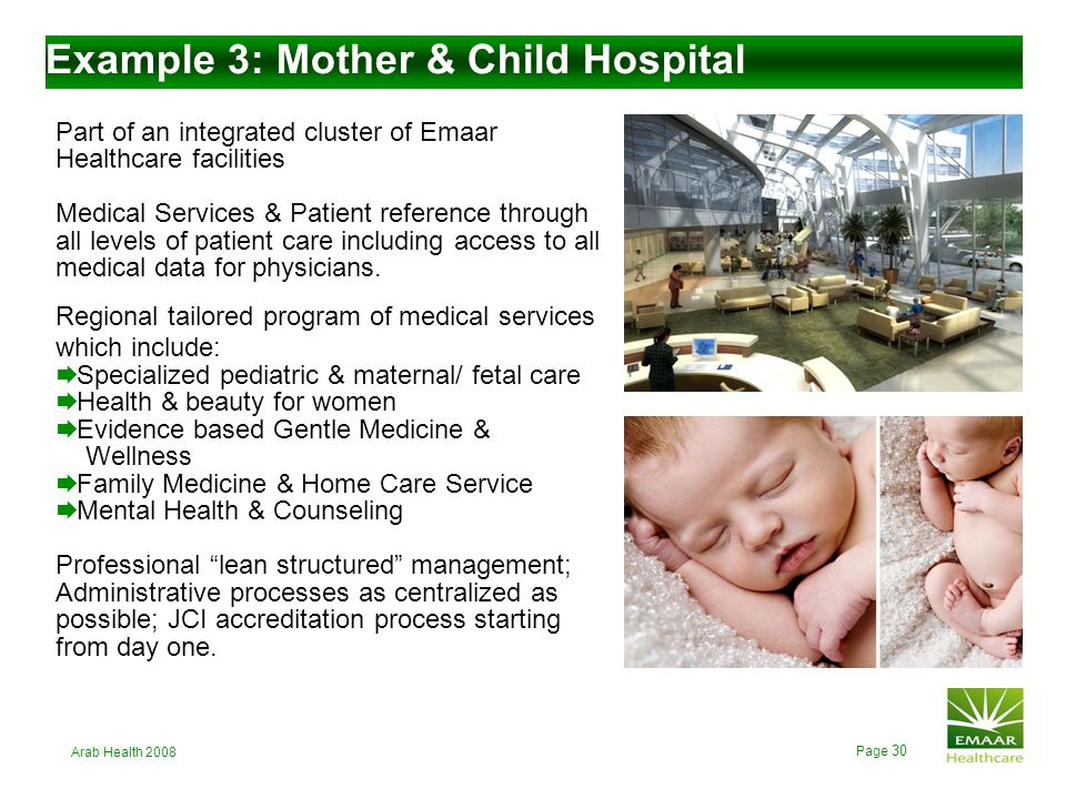 Example 3: Mother & Child Hospital