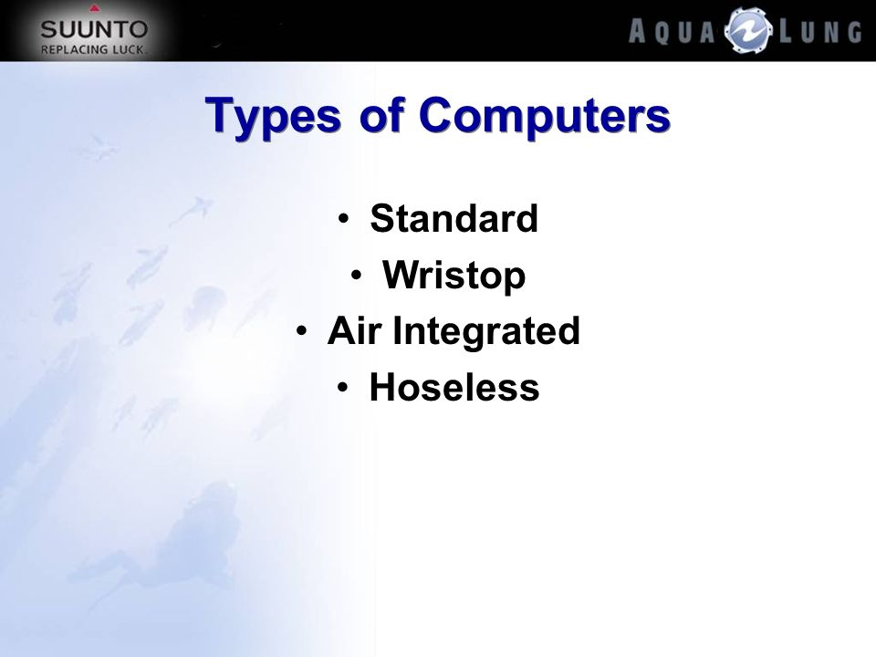Types of Computers Standard Wristop Air Integrated Hoseless