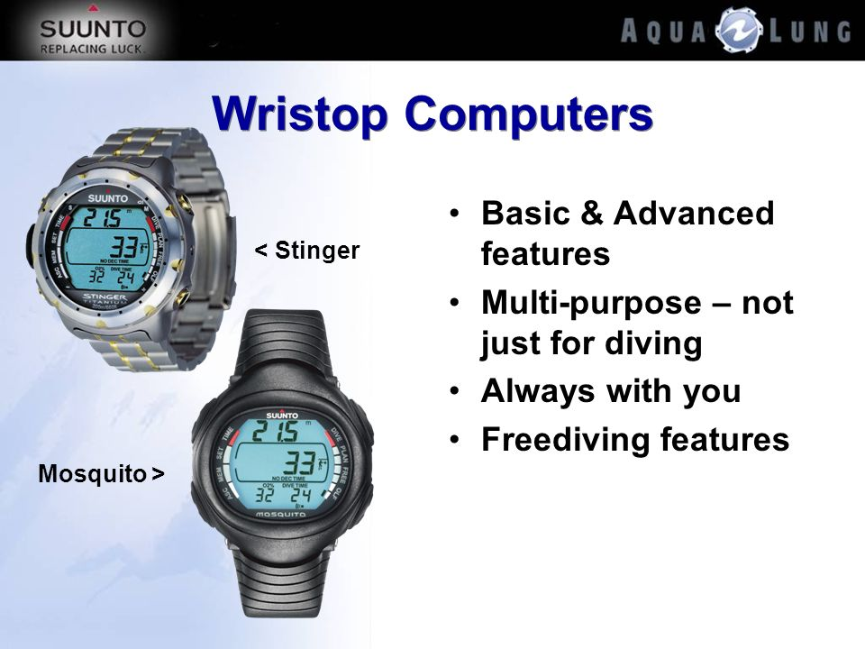 Wristop Computers Basic & Advanced features