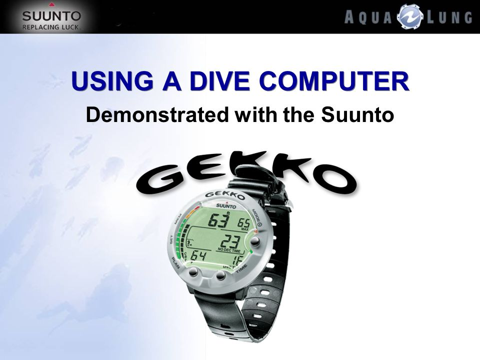 Demonstrated with the Suunto