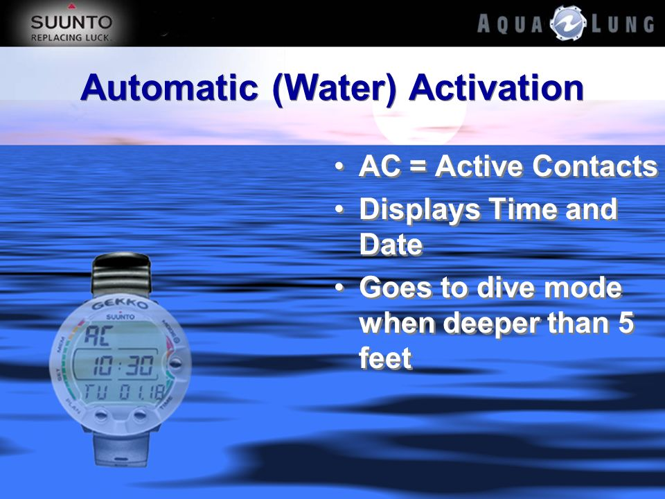 Automatic (Water) Activation