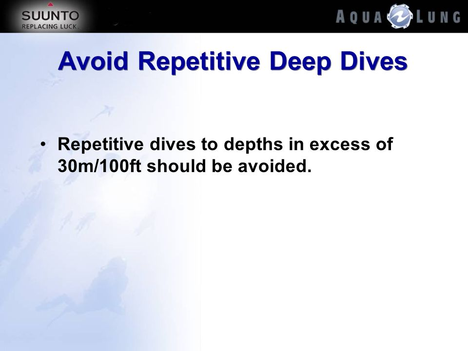 Avoid Repetitive Deep Dives