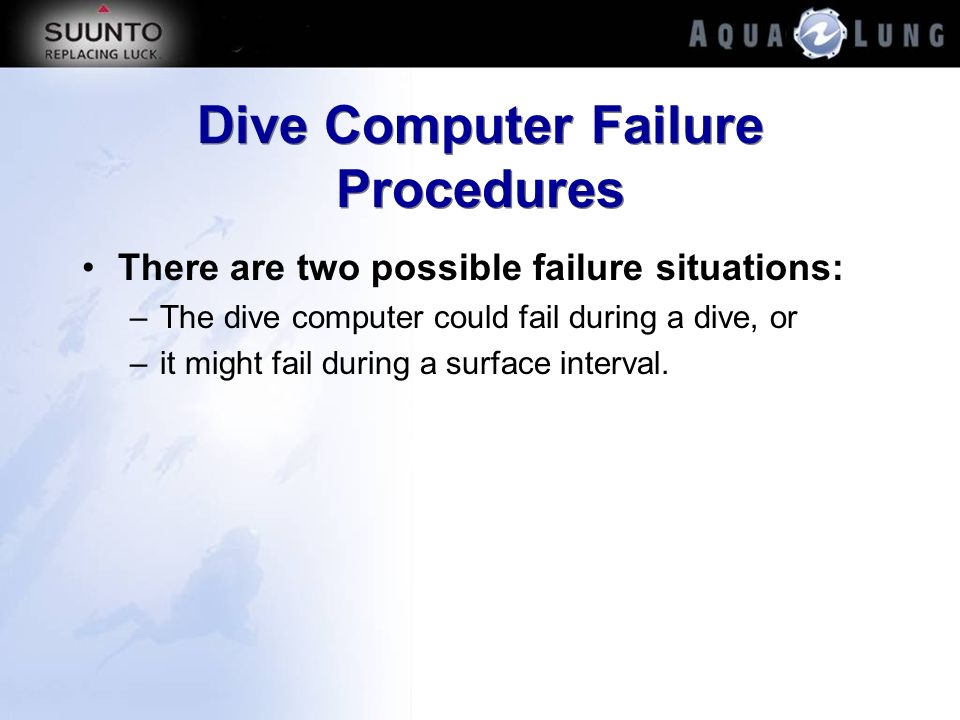 Dive Computer Failure Procedures