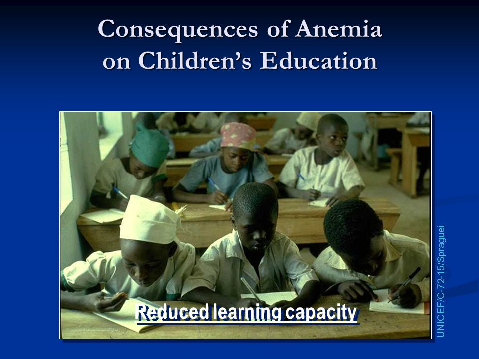 Consequences of Anemia on Children's Education