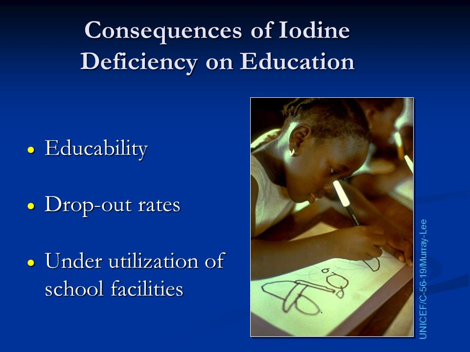 Consequences of Iodine Deficiency on Education