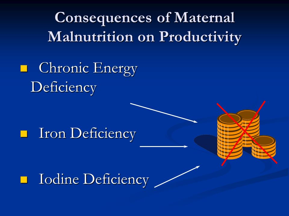 Consequences of Maternal Malnutrition on Productivity
