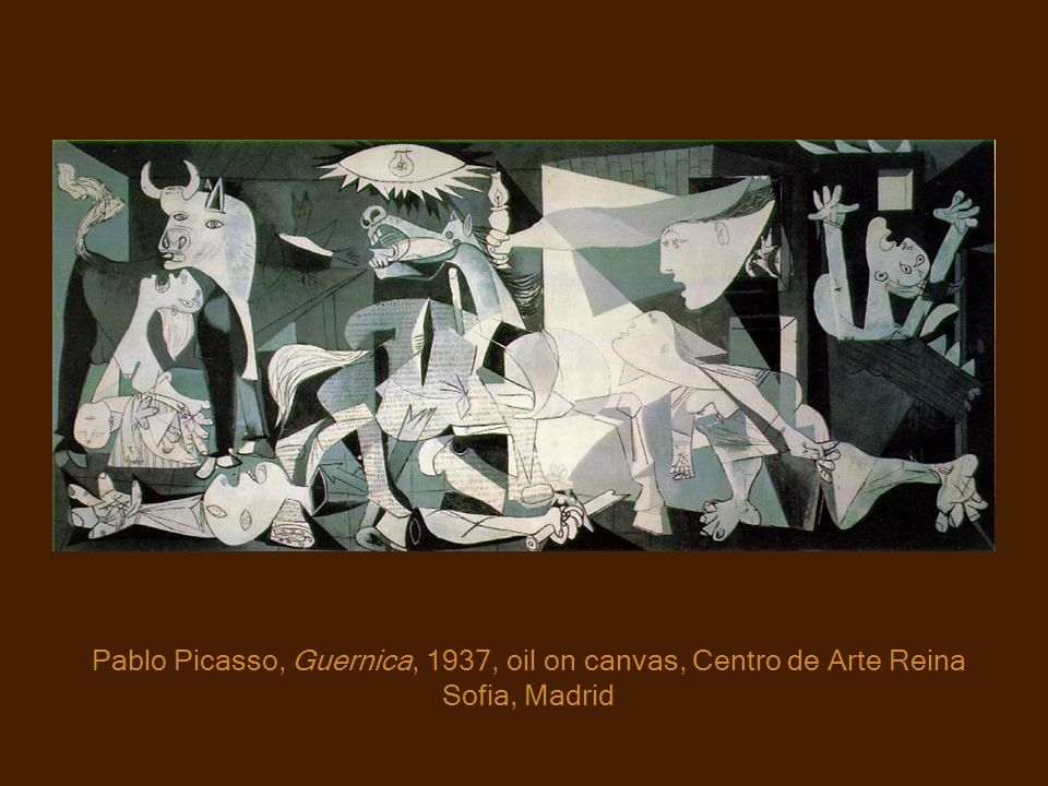 Pablo Picasso, Guernica, 1937, oil on canvas, Centro de Arte Reina Sofia, Madrid