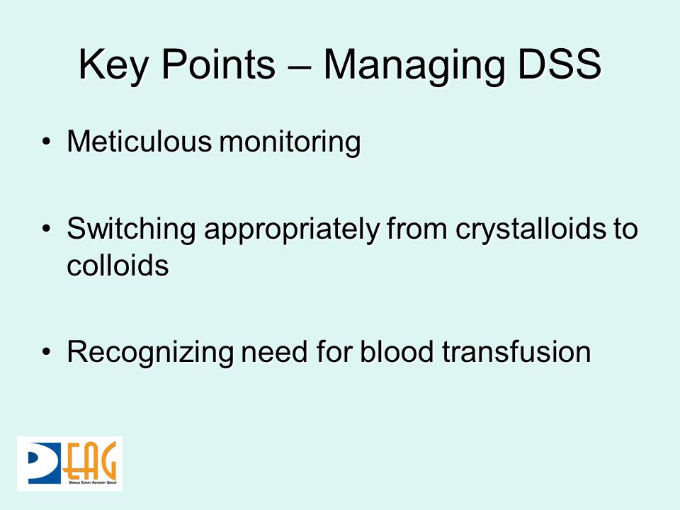 Key Points – Managing DSS