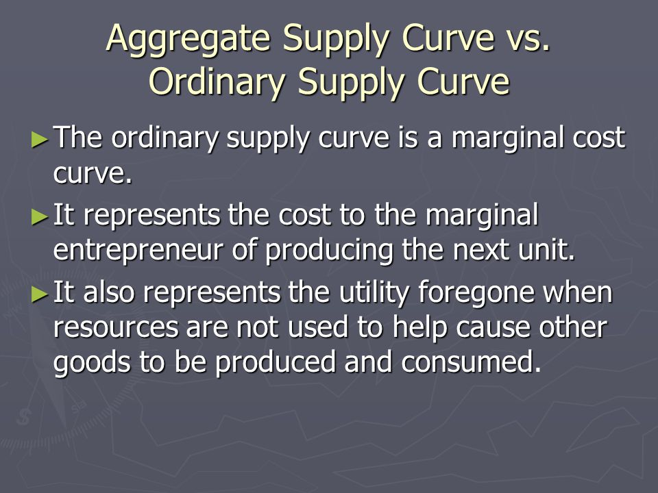 Aggregate Supply Curve vs. Ordinary Supply Curve