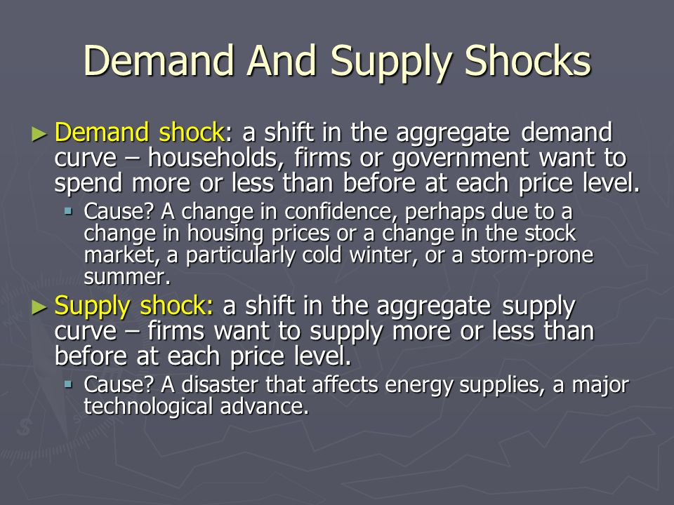 Demand And Supply Shocks