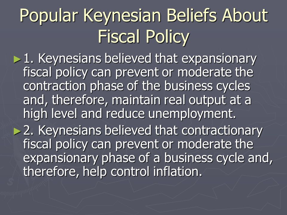 Popular Keynesian Beliefs About Fiscal Policy