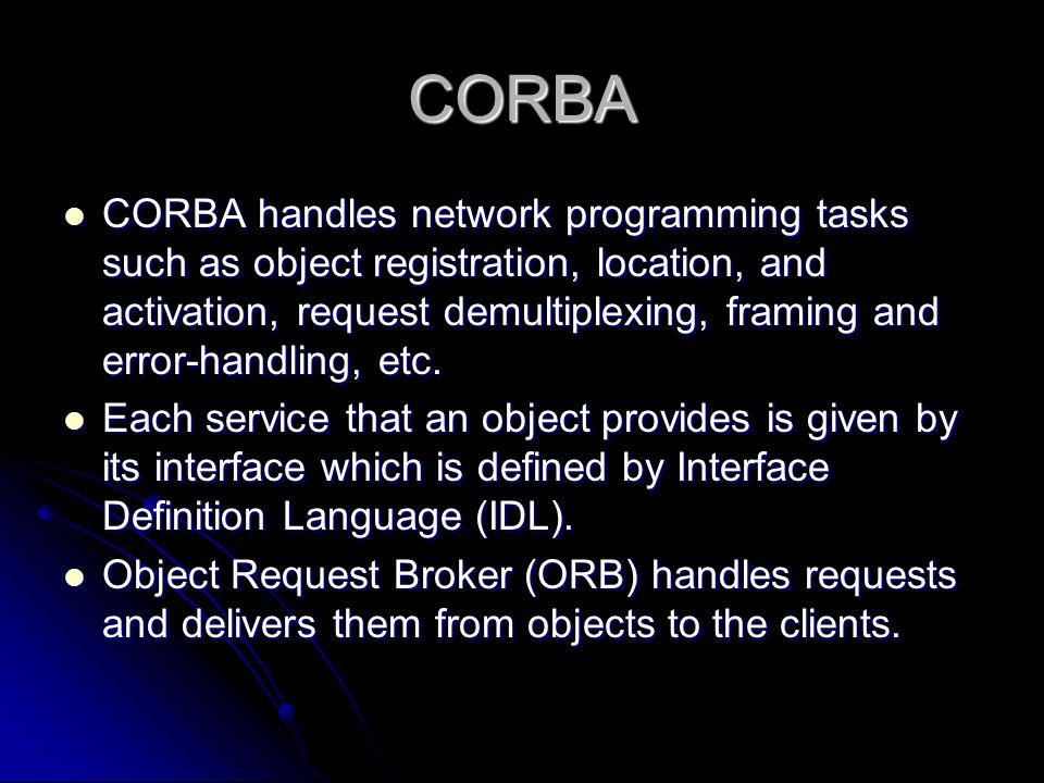 COM vs. CORBA. - ppt video online download