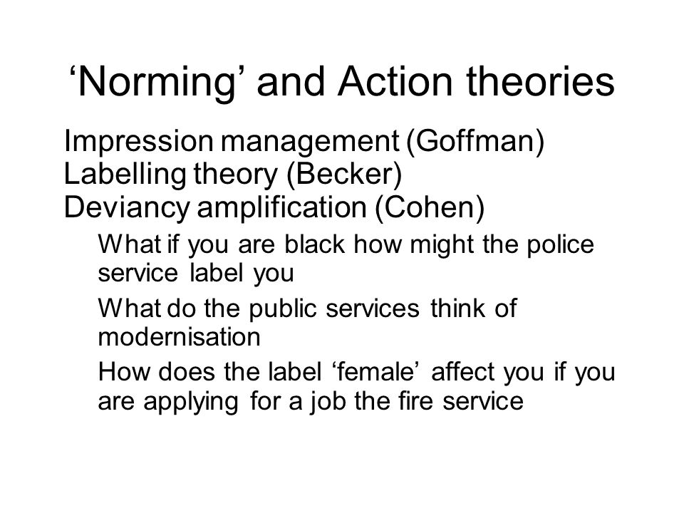 'Norming' and Action theories