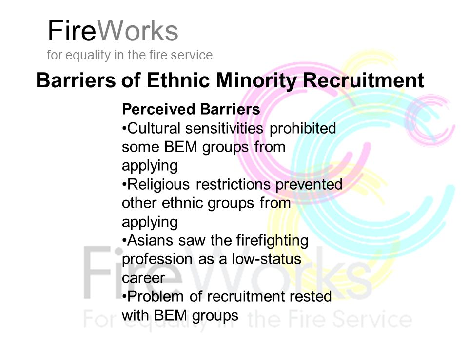 FireWorks for equality in the fire service