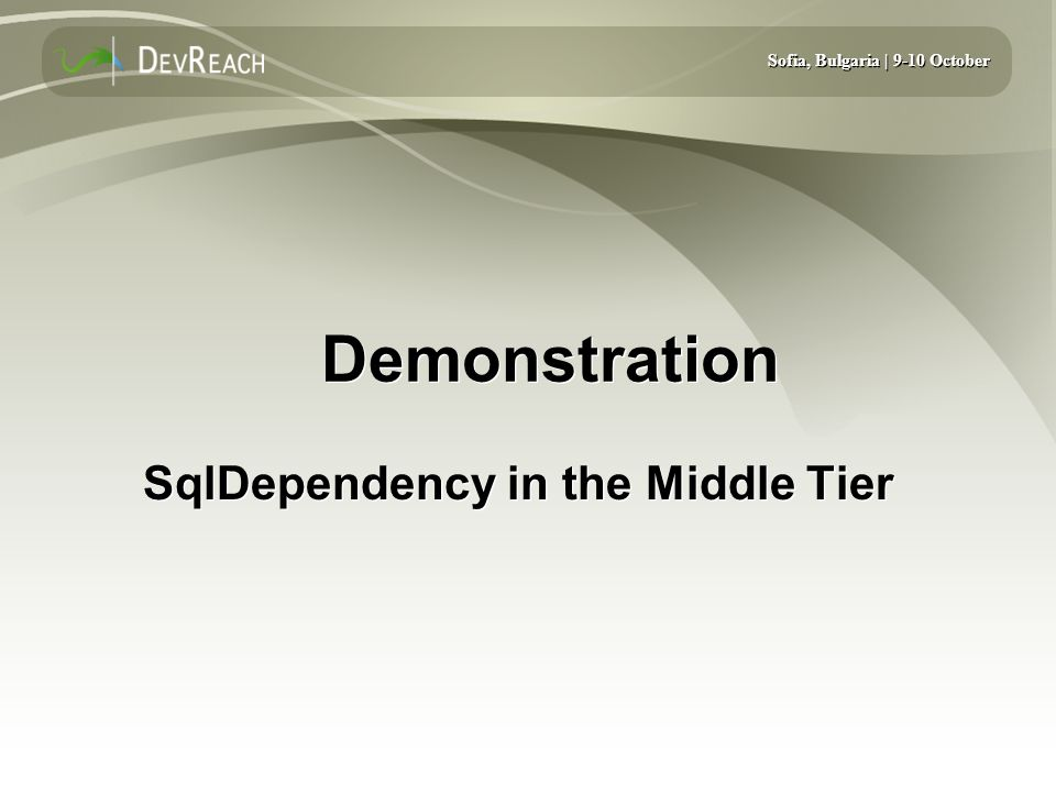SqlDependency in the Middle Tier