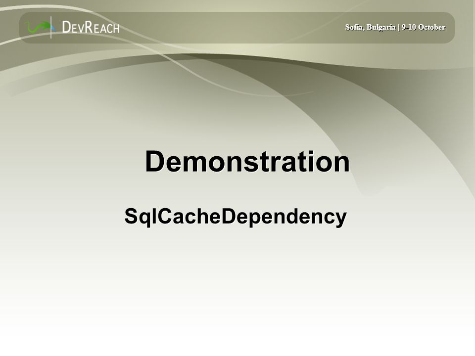 Demonstration SqlCacheDependency