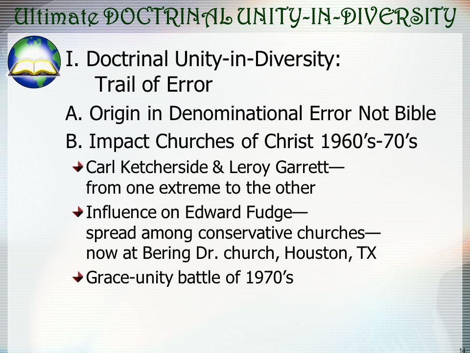 Ultimate DOCTRINAL UNITY-IN-DIVERSITY