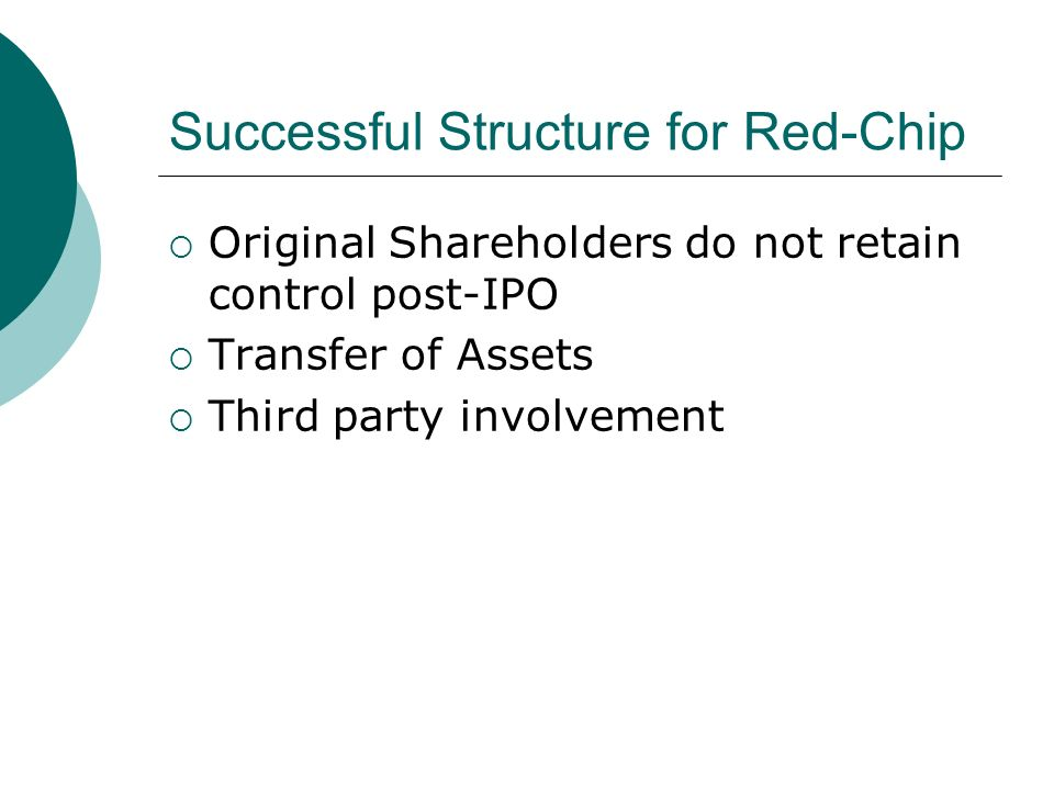 Successful Structure for Red-Chip