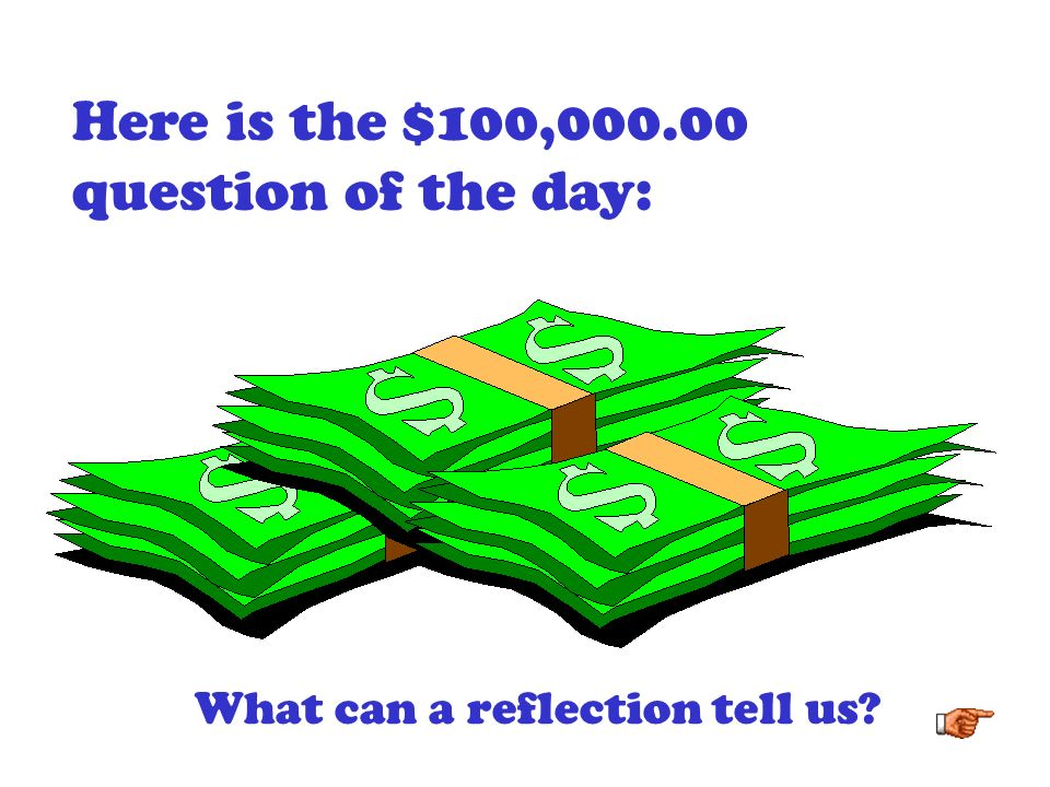 Here is the $100, question of the day: