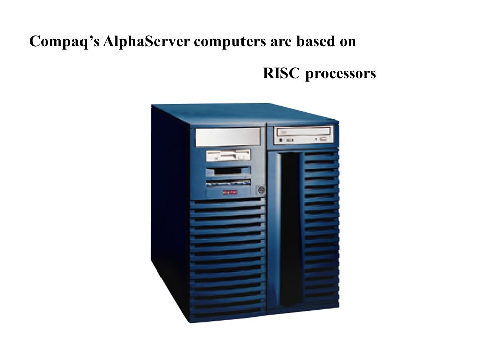 Compaq's AlphaServer computers are based on