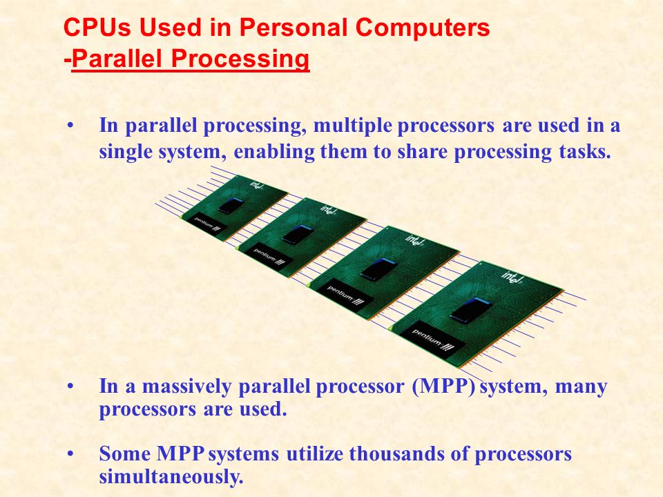 CPUs Used in Personal Computers -Parallel Processing