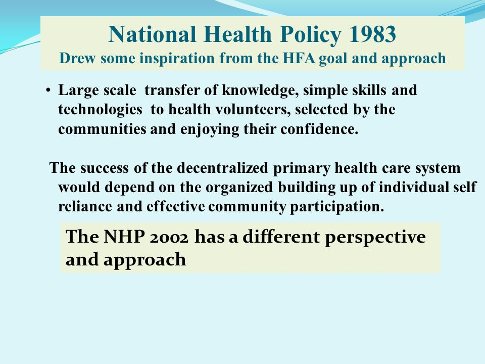 National Health Policy 1983