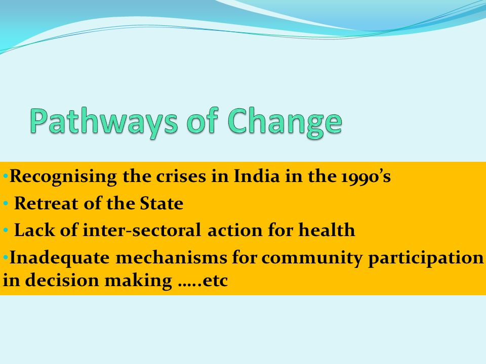 Pathways of Change Recognising the crises in India in the 1990's