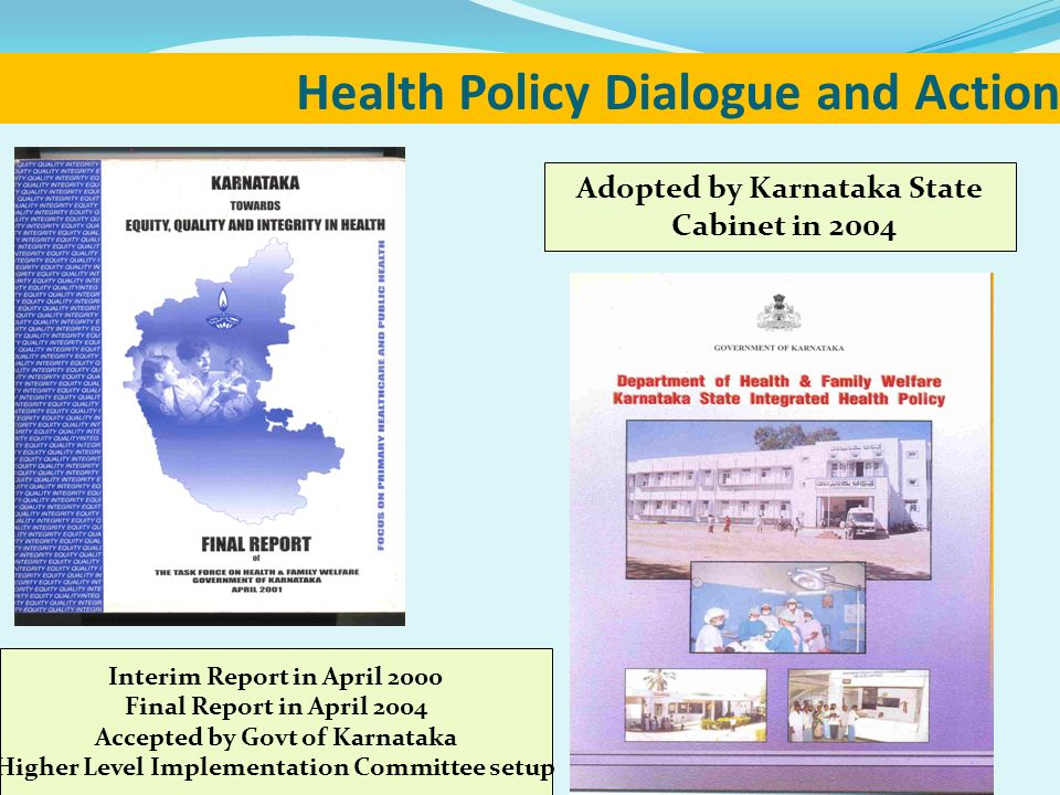 Health Policy Dialogue and Action