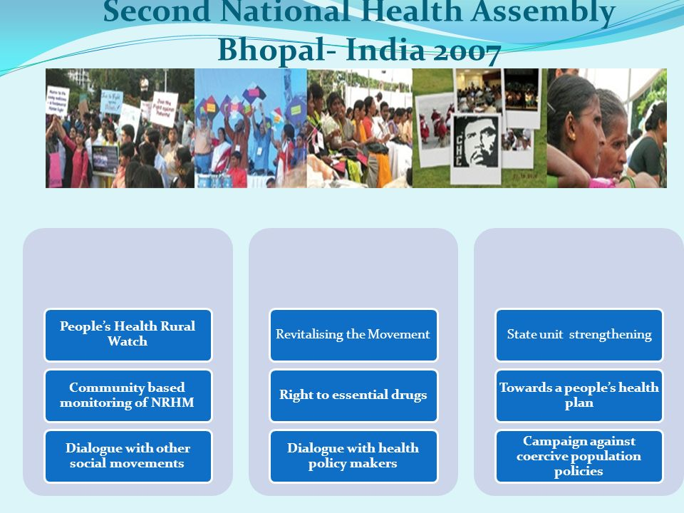 Second National Health Assembly Bhopal- India 2007