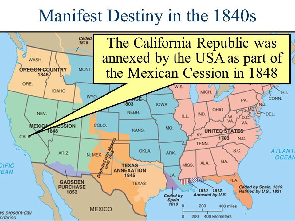 Manifest Destiny in the 1840s