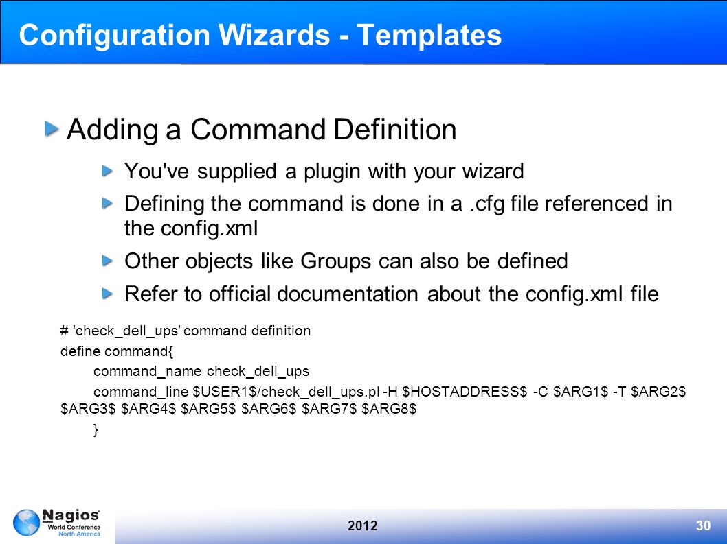 Configuration Wizards - Templates