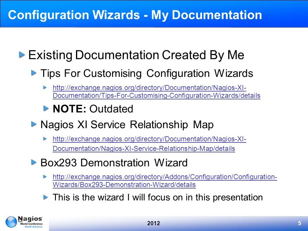 Configuration Wizards - My Documentation