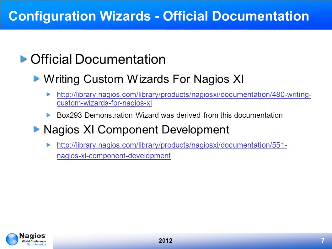 Configuration Wizards - Official Documentation