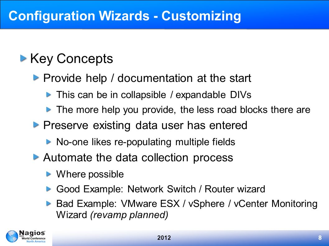 Configuration Wizards - Customizing