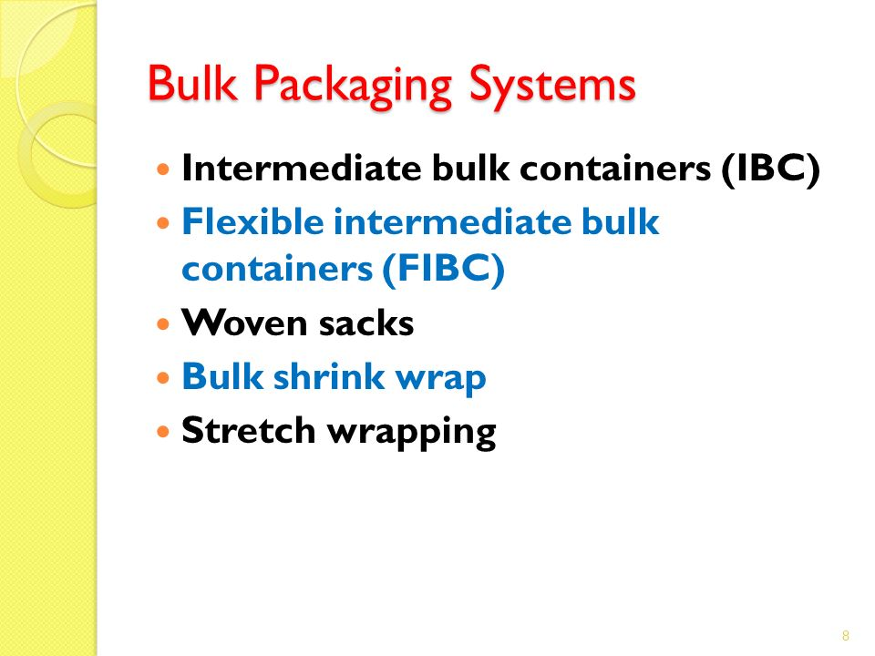 Bulk Packaging Systems