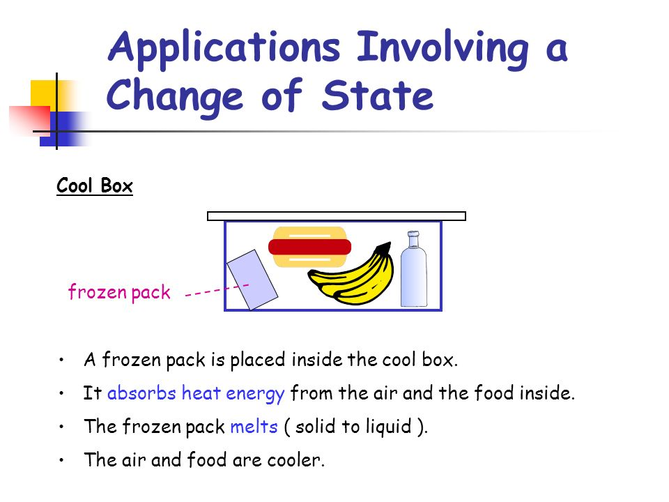 Applications Involving a Change of State