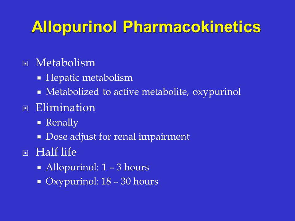 Allopurinol Pharmacokinetics