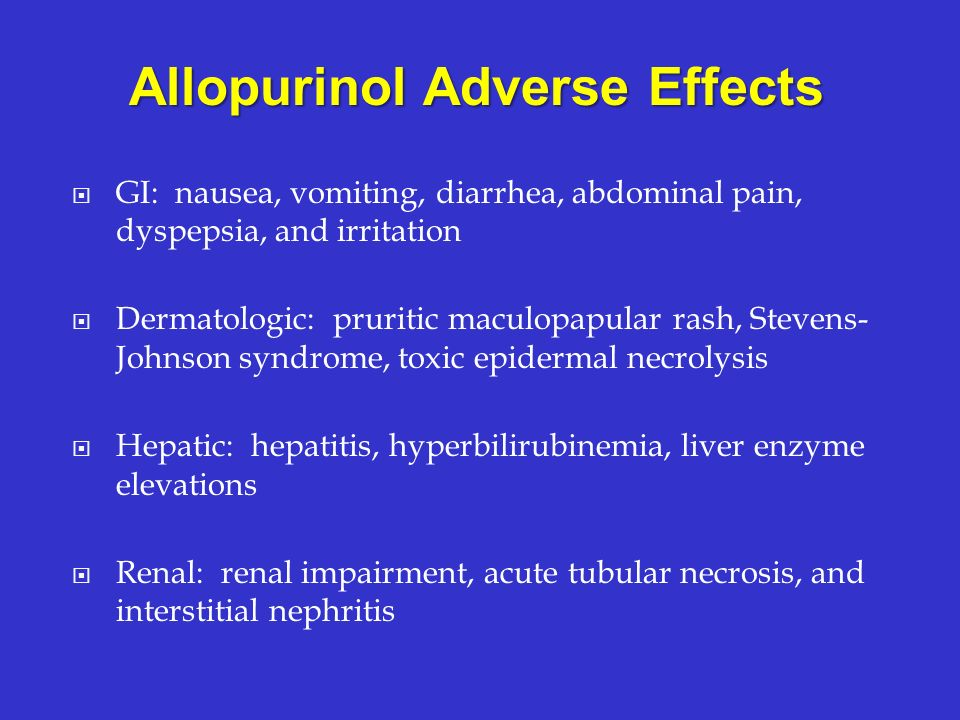 Allopurinol Adverse Effects