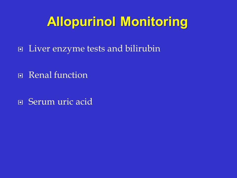 Allopurinol Monitoring