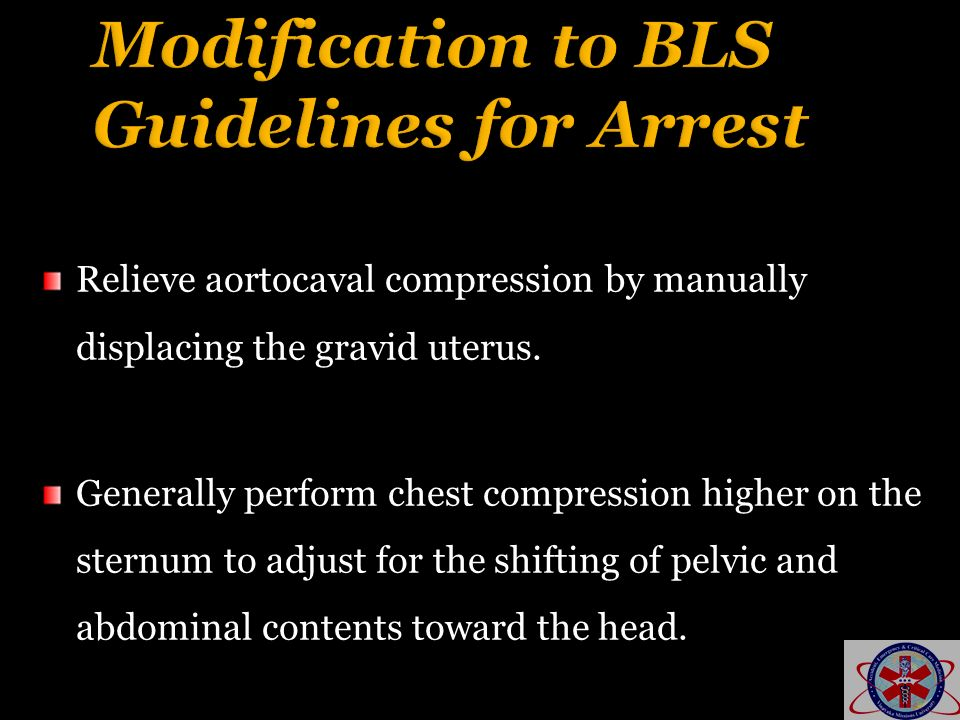 Modification to BLS Guidelines for Arrest
