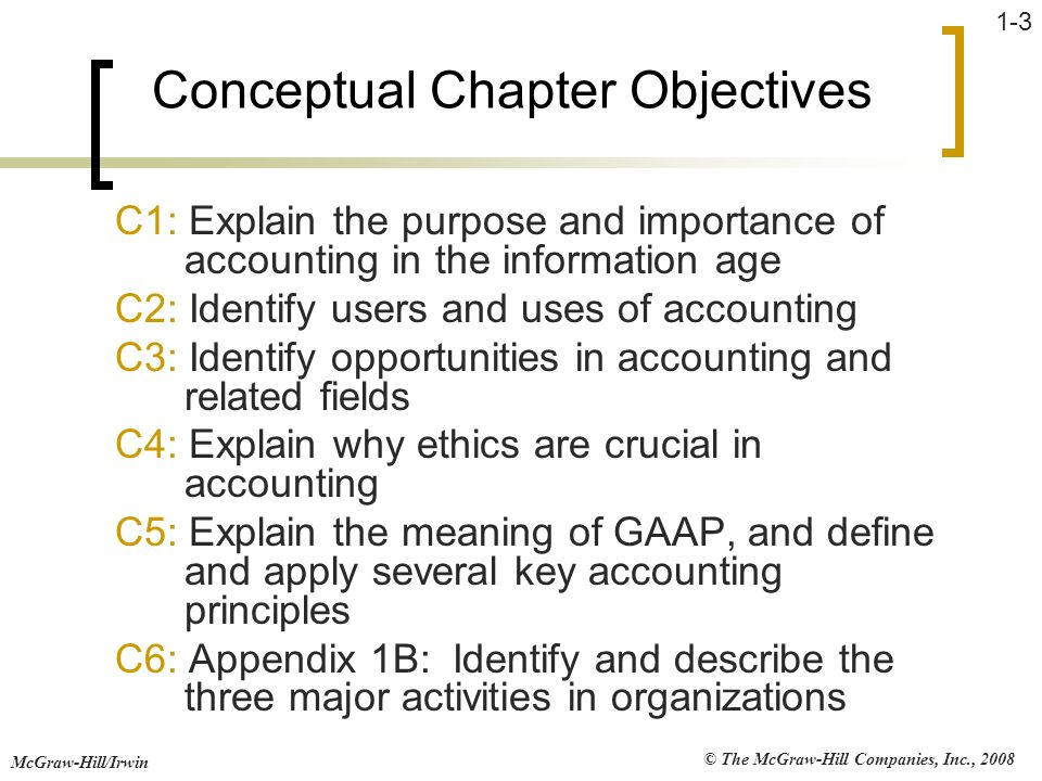 John j wild 4th edition financial accounting ppt download 3 conceptual chapter objectives fandeluxe Choice Image