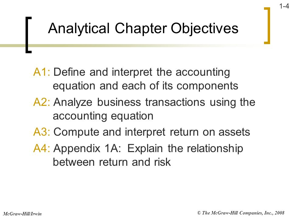 John j wild 4th edition financial accounting ppt download 4 analytical chapter objectives fandeluxe Choice Image