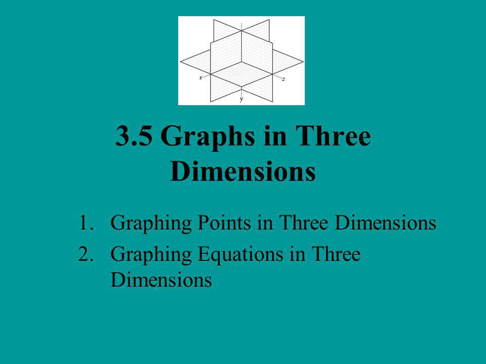 3.5 Graphs in Three Dimensions