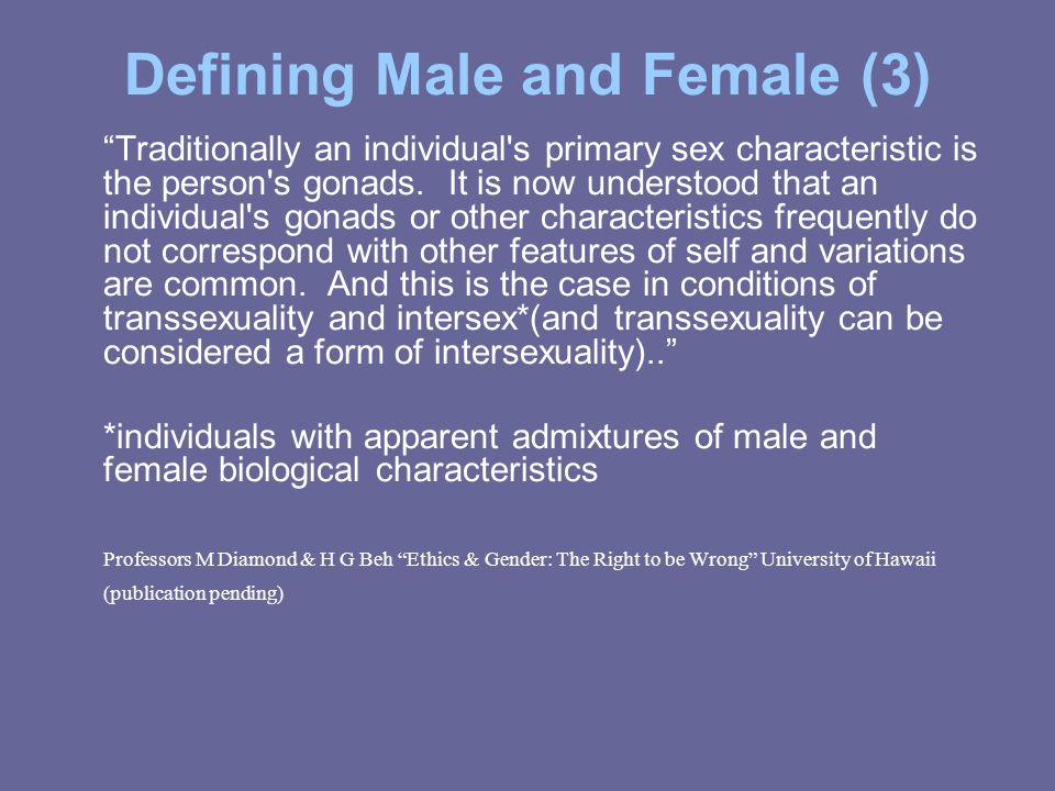 Defining Male and Female (3)