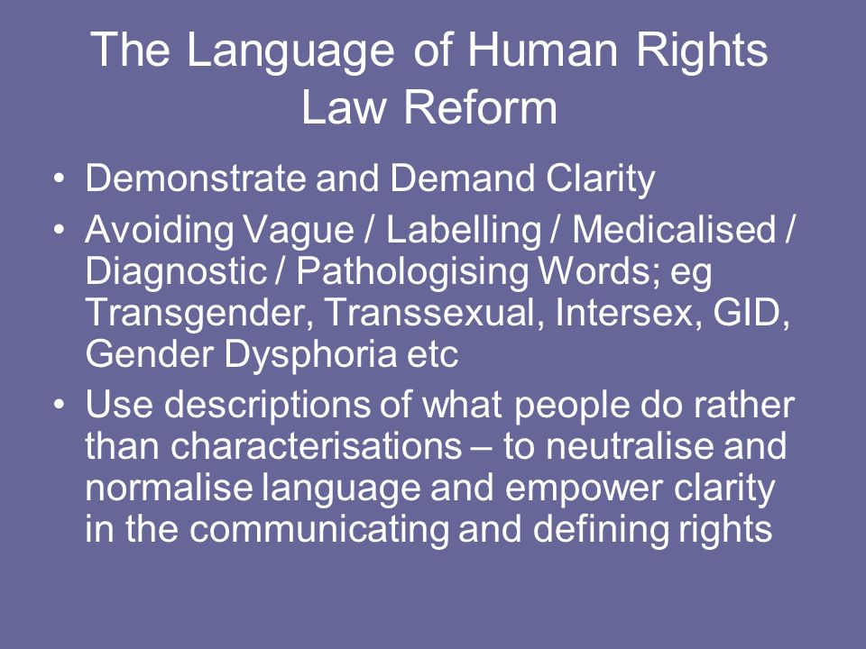 The Language of Human Rights Law Reform